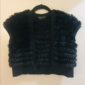 Genuine fur shrug